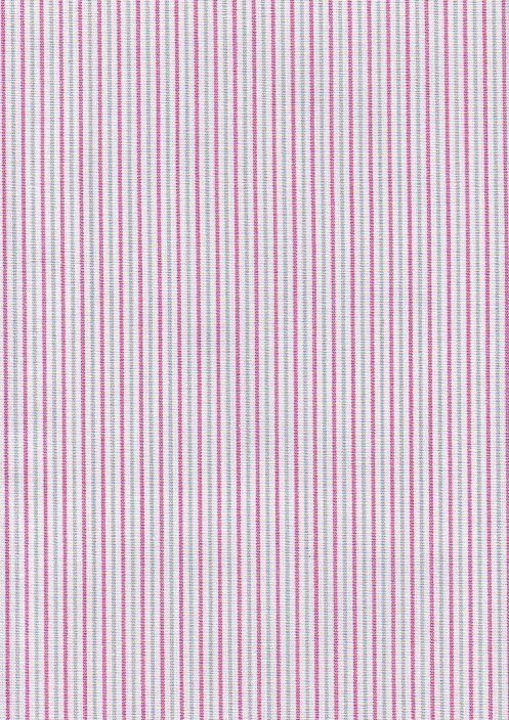 Tissu fines rayures Rose/Gris fond blanc Réf.R8 50x50cm
