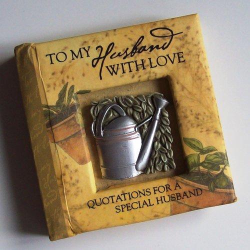 """Petit livre de citations """"to my husband with love"""" 7x7cm"""
