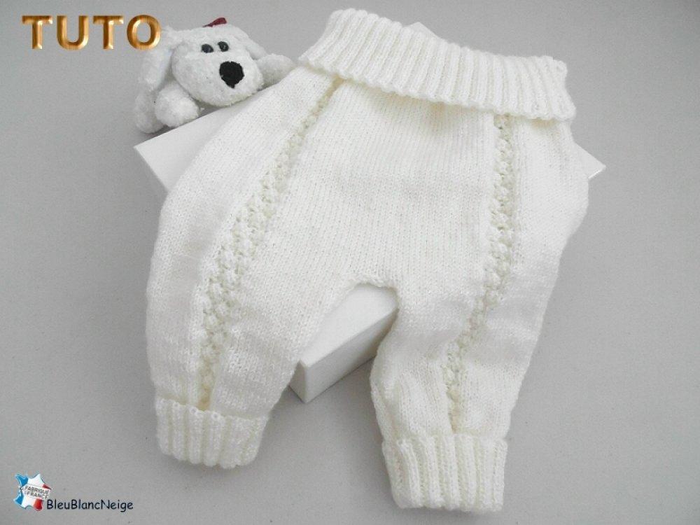 Tuto Tu 082 Naissance Fiche Tricot Bébé Explications Pantalon Bébé Tricot Bb Tuto Layette Bebe
