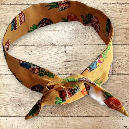Bandeau headband rigide, style tendance, coloris orangé