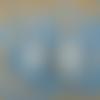 Boucles d'oreilles sirène bleues bohème perles d'eau douces