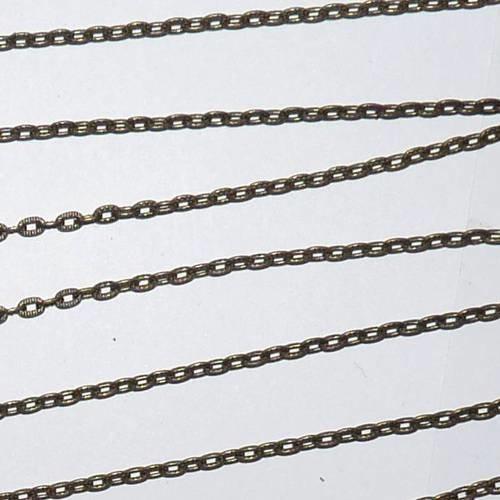 DIY perlesmania.com Pax 10m Chaine Bronze S1112399 pour cr/éation de Colliers