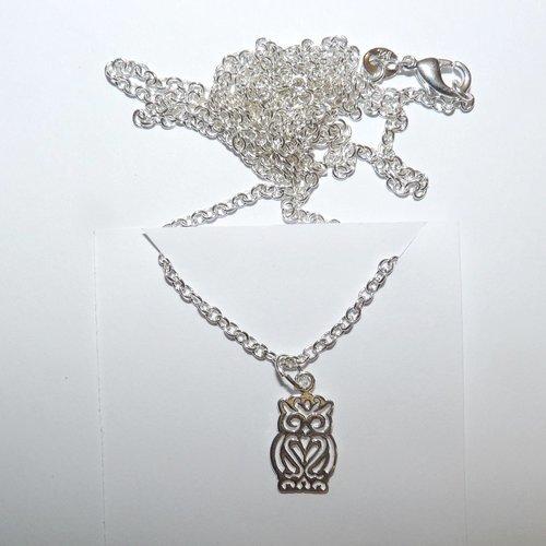 collier hibou femme