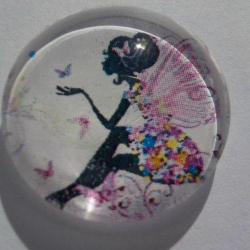 Cabochon de verre fée, rond, 20 mm