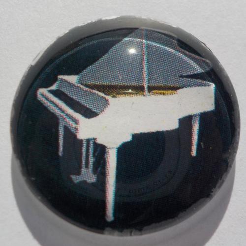 Cabochon de verre piano, rond, 20 mm,