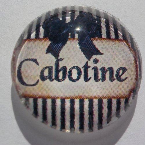 Cabochon cabotine, rond, verre,