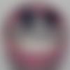 Cabochon de verre et son écriture romantique, rond, 20 mm,