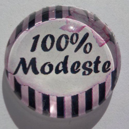 Cabochon de verre rond, 20 mm, 100% modeste