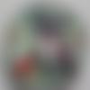 Cabochon de verre en 25 mm, avec son image de buste de femme