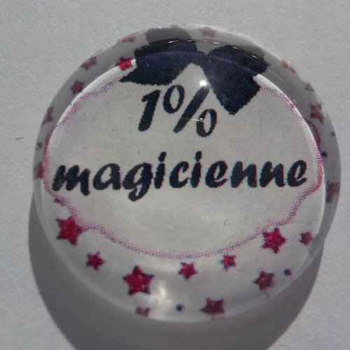 Cabochon de verre 1% magicienne
