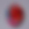 Cabochon de verre ovale 18x25 mm de coquelicot