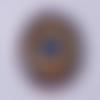 Cabochon de verre, mandala, multicolore, ovale, 25x18 mm