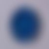 Cabochon de verre, mandala, bleu, blanc, ovale, 25x18 mm