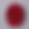 Cabochon de verre, mandala, rouge, bordeaux, ovale, 25x18 mm