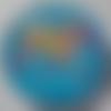 Cabochon, éléphant, multicolore, verre, rond, 20 mm