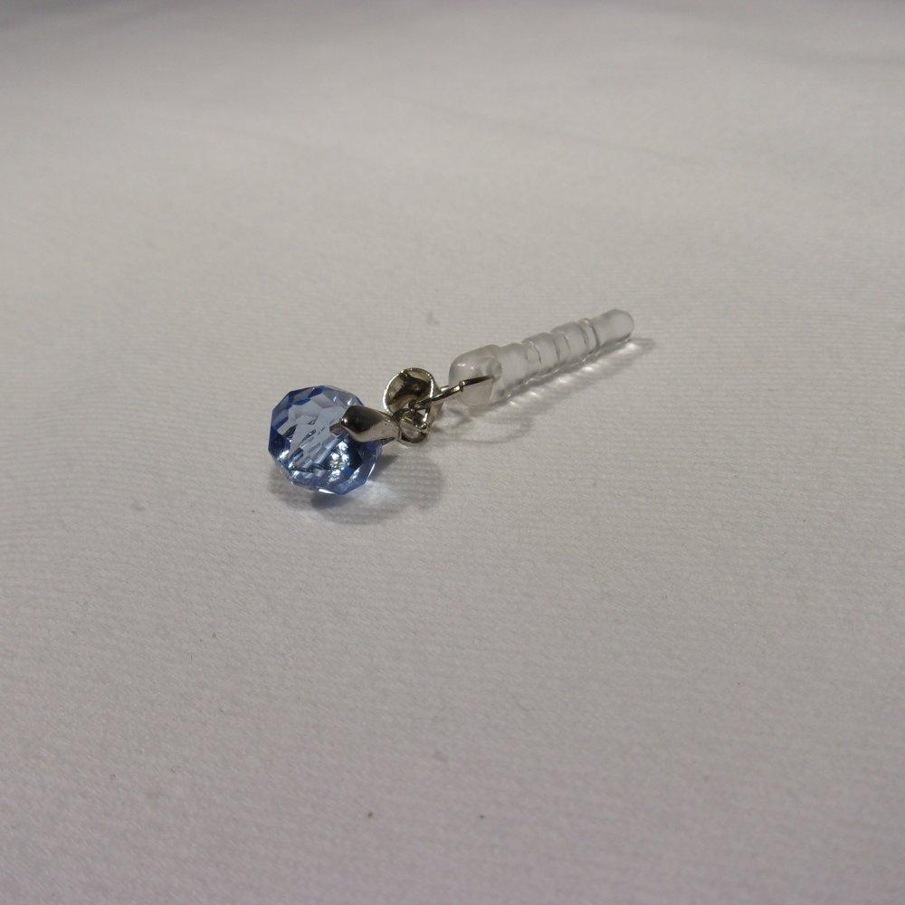 bijoux de portable perle bleu