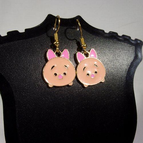 Boucles d'oreilles pop culture porcinet