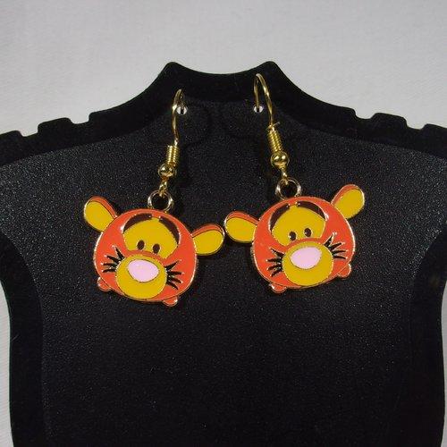 Boucles d'oreilles pop culture tigrou