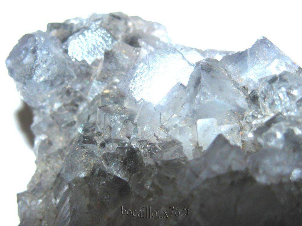 FLUORITE BLEUE H267 - ESPAGNE.La Collada - COLLECTION MINERAUX