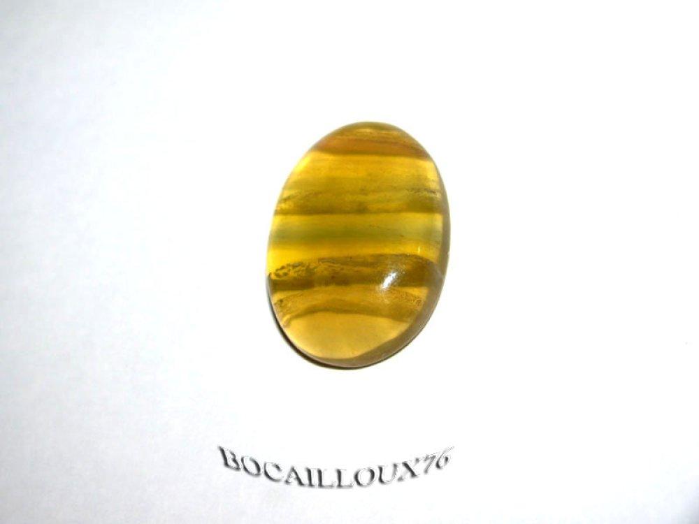 CABOCHON 23x16x6.5 FLUORINE 10 Ovale - Pour CREATION