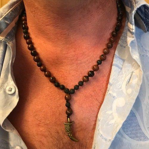 collier pierre naturelle pour homme