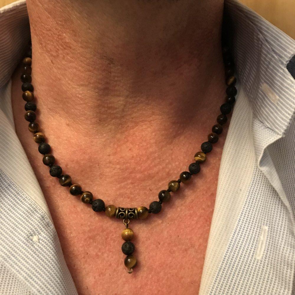 collier de pierre homme