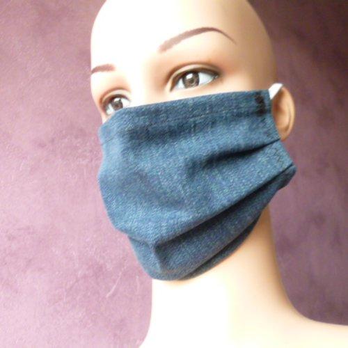 Protection visage pour homme, masque de visage elastiques, protecteur, masque en jean pour homme