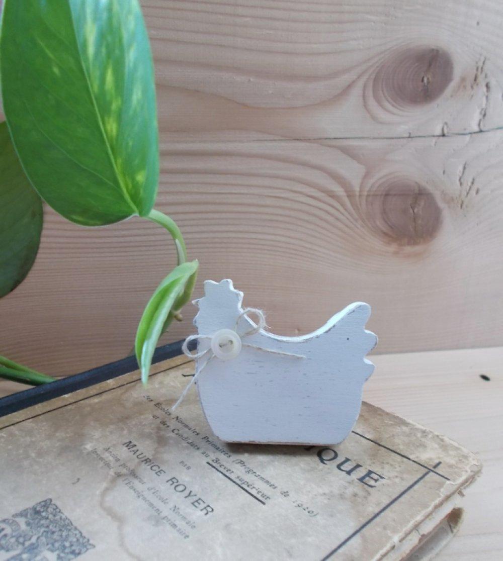 Poignée de porte/tiroir en bois brut forme poule