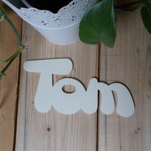 Prénom enfant en bois de 3 lettres - plaque décorative pour ...