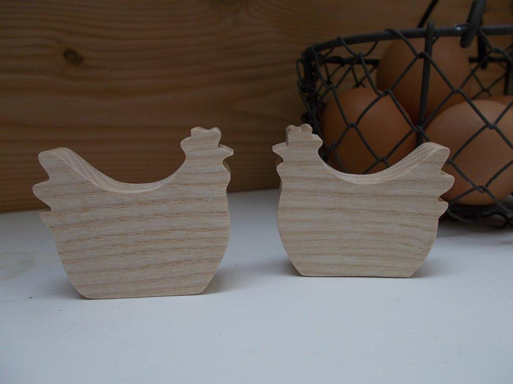 Poulette - petite poignée de porte/tiroir en bois massif ou patère