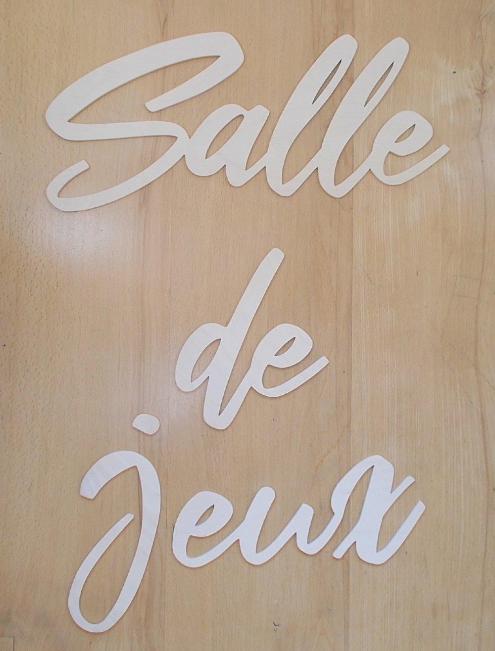 Décor Salle De Jeux salle de jeux - mots décoratifs en bois pour décor mural/porte