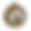 Miroir en corde de chanvre naturel brun , etoiles de mer