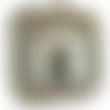 Miroir en corde de jute naturelle et coton blanc pur , etoiles de mer