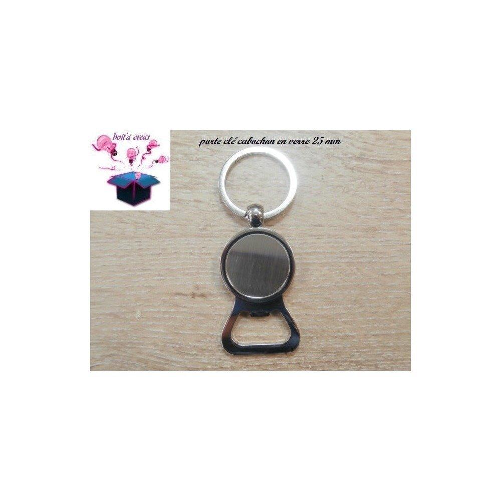 1 support de porte clé avec décapsuleur cabochon 25 mm