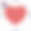 Cabochon en verre thème coeur 25 mm