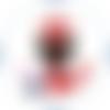 Cabochon en verre thème joli couple 25 mm