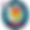 Cabochon en verre thème noël 25 mm