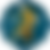 Cabochon en verre thème fée 25 mm