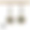Boucles d'oreille liberty style cabochon argent papillon turquoise