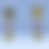 """Boucles d'oreille dorées """"oiseau"""""""