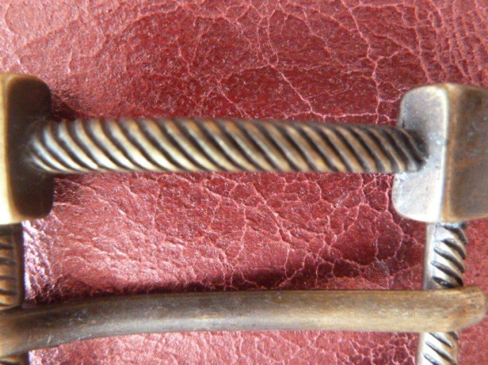 boucle rectangulaire  en métal couleur bronze