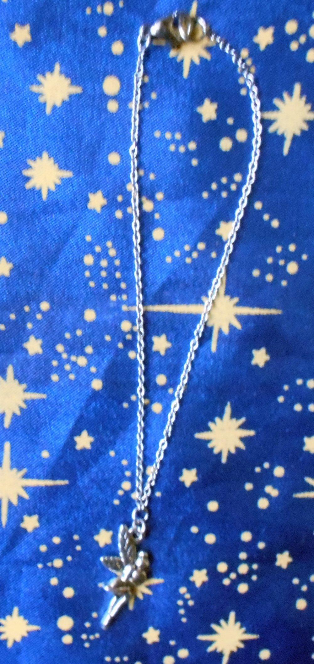 Chaîne de cheville motif fée en inox.