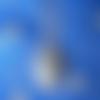 Pendentif en alliage argent/étain, forme coeur; avec une labradorite de 18x25mm.