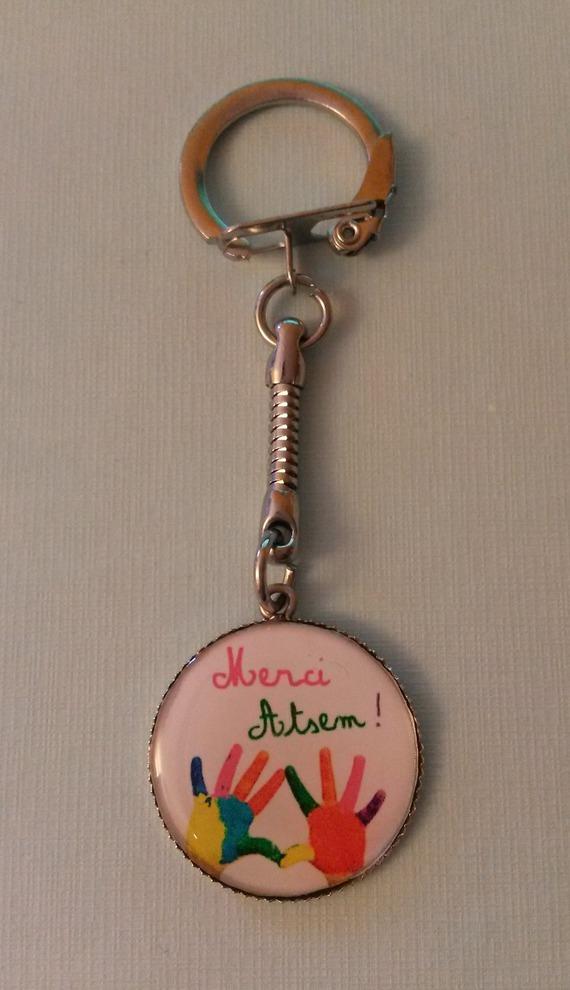 """Porte-clés """"Merci ATSEM"""" -cadeau ATSEM-"""