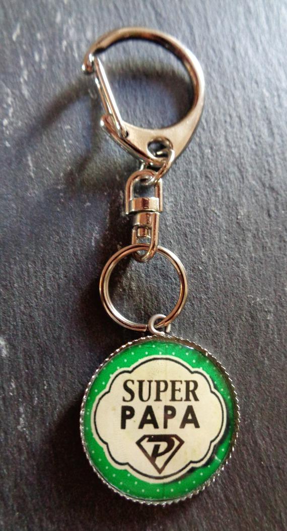 """Porte-clés """"super Papa"""""""