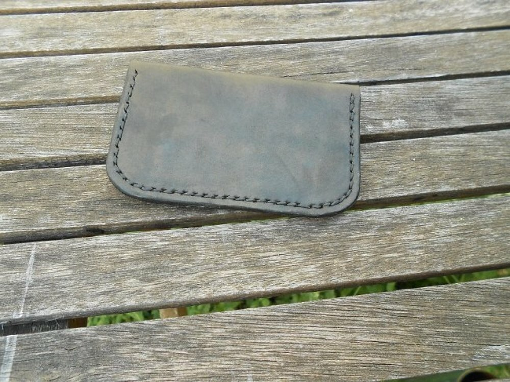 porte-monnaie et porte-cartes deux compartiments cuir noir arbre de vie