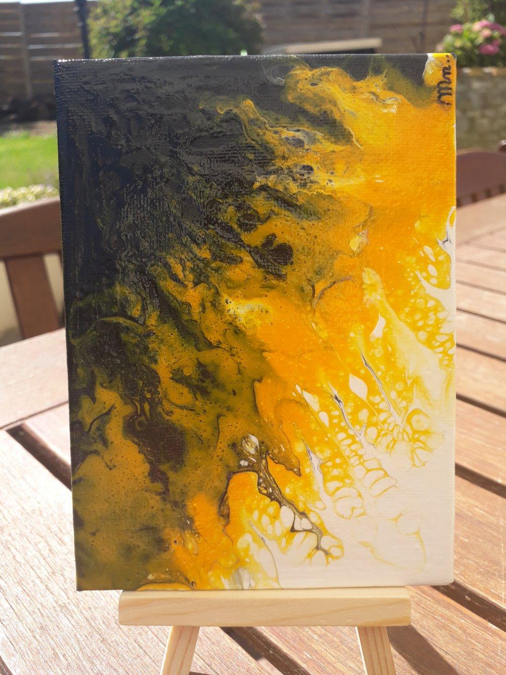 "Peinture abstraite ""tel un phenix"""