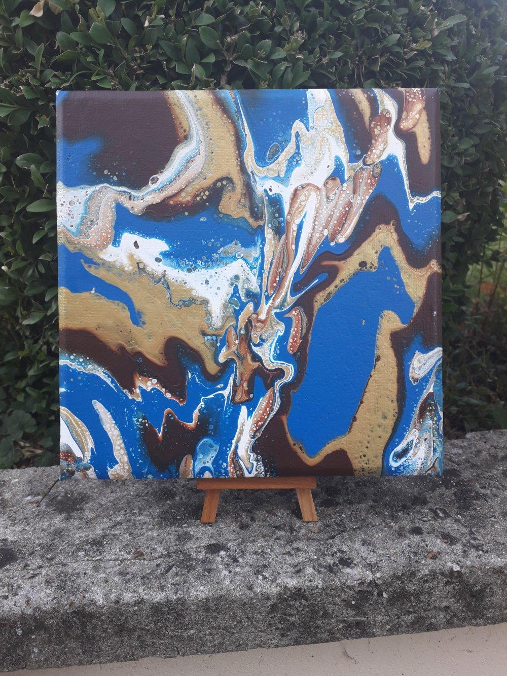 """tableau abstrait """"estuaire paradisiaque """""""