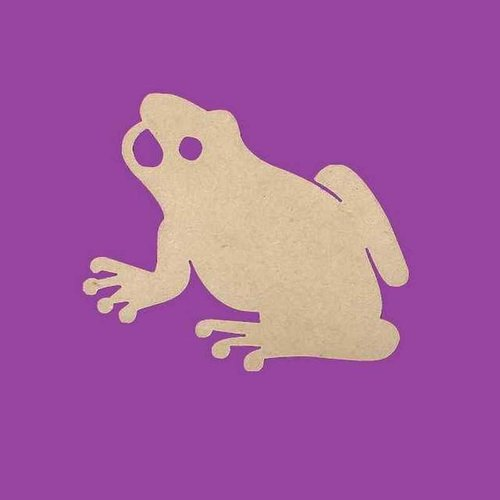 Support a decorer en bois mdf grenouille