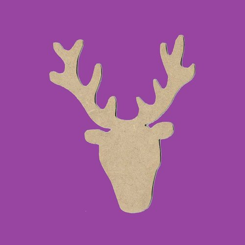 Support a decorer en bois mdf tete de renne
